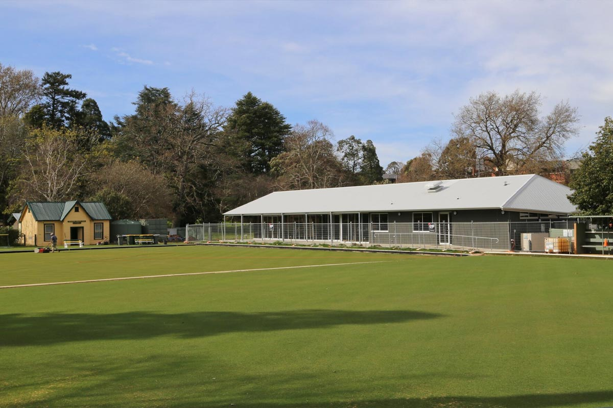 A large clubroom on the side of a bowls green in Buninyong